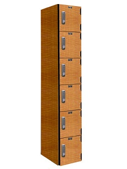 phl1282-6a-e-phenolic-six-tier-1-wide-locker-electronic-lock
