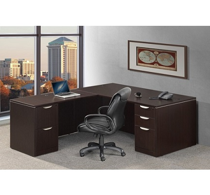 Ndi Office Furniture Classic Series L Shaped Desk Pl29 L Shaped Desks Worthington Direct