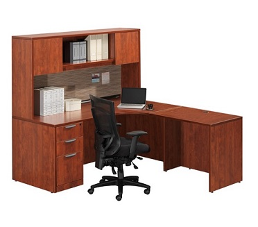 Ndi Office Furniture Classic Series L Shaped Desk W Hutch Pl31 L Shaped Desks Worthington