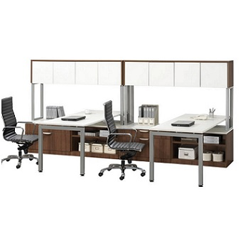 Ndi Office Furniture Elements Two Station Work Center Plt11 Office Suites Worthington Direct