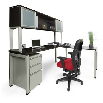 Ndi Office Furniture Elements L Shaped Desk W Hutch Plt13 L Shaped Desks Worthington Direct