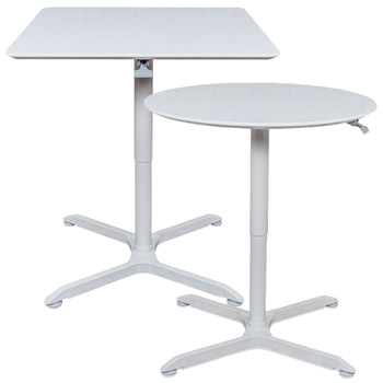 Pneumatic Height Adjustable Cafe Tables By Luxor