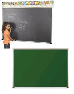 104ap-4x16-aluminum-frame-green-porcelain-steel-chalkboard-with-1-map-rail