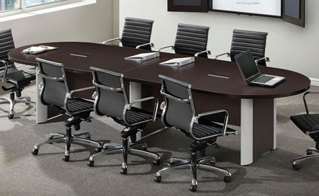 All Racetrack Conference Tables W Elliptical Base By Ndi Office - Elliptical conference table