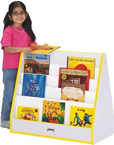 3508jcww-rainbow-accents-pick-a-book-stand-1-sided-wo-casters