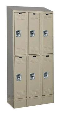 urb3258-2asb-readybuilt2-double-tier-3-wide-lockers-w-slope-top---locks--12-w-x-15-d-x-36-h
