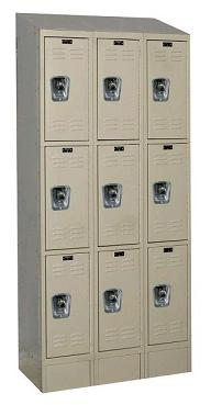urb3258-3asb-readybuilt2-triple-tier-3-wide-lockers-w-slope-top---locks--12-w-x-15-d-x-24-h
