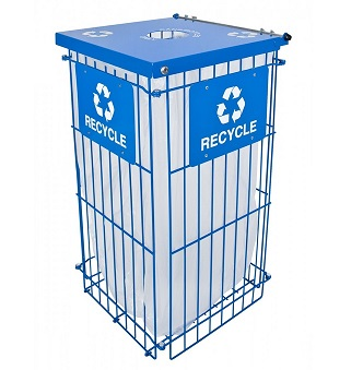 rgu-1836rbl-clean-grid-fully-collapsible-recycle-receptacle