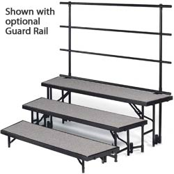 rtrp3c-72lx52dx24h-3-level-tapered-choral-riser-pewter-gray-carpet-surface-wblack-metal
