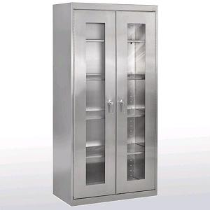sa4v361872-stainless-steel-clear-view-storage-cabinet-36-x-18-x-72