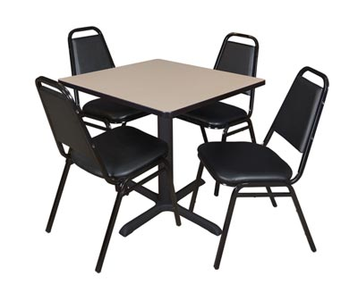 cain-base-cafe-table-and-four-vinyl-stacker-chairs-by-regency