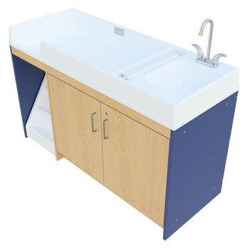 Tot Mate Changing Table W Sink Amp Stairs Right Hand