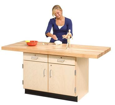 two-station-wood-workbench-w-drawers-by-shain