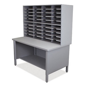 util0068-40-slot-mailroom-sorter-w-shelves