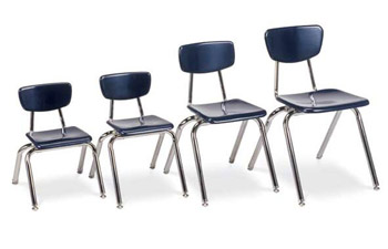 3000 Series Solid Plastic School Chair By Virco