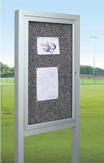 all-weather-herald-standing-enclosed-bulletin-board-cabinet-by-best-rite