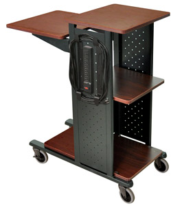 wps4br5e-black-frame-with-cherry-shelves-hd-presentation-station