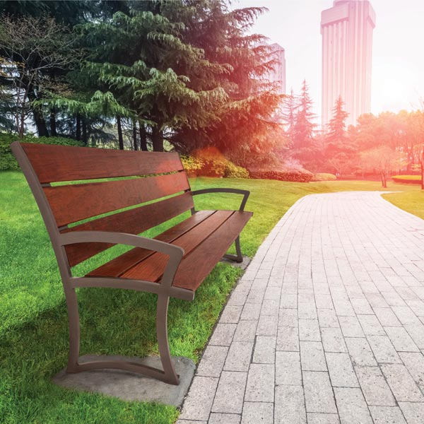 Ultraplay Madison Ipe Wood Outdoor Bench With Back 4 L