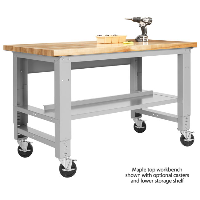 Stock #38980   Diversified Woodcrafts 252208 Fab Lab Workbench Optional  Casters