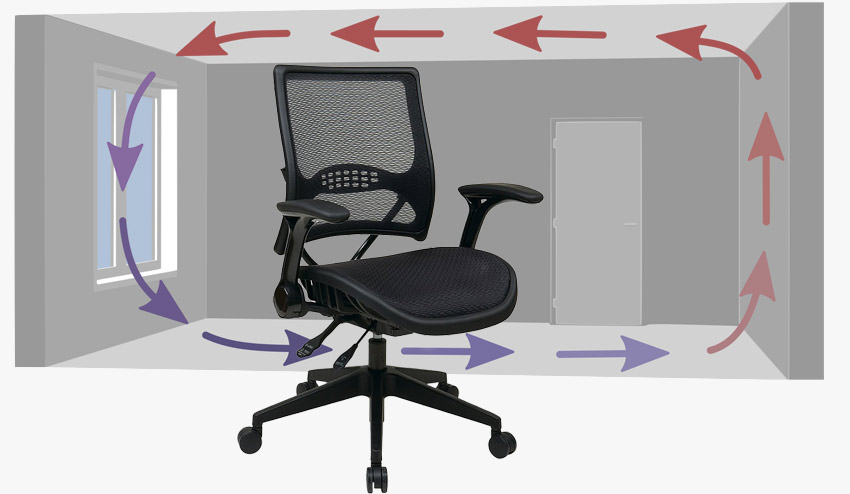 Mesh Office Chairs for breathability