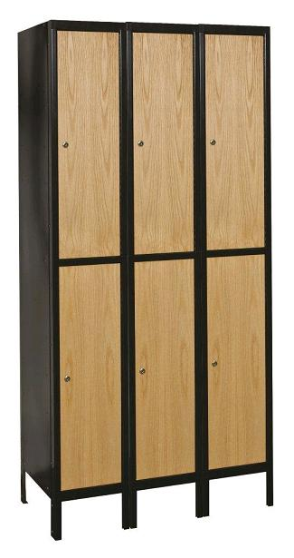 metal-wood-hybrid-double-tier-3-wide-locker-by-hallowell