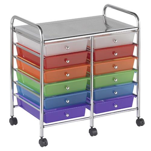elr-0261-mobile-organizer-cart-12-standard-drawers