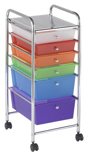 elr-20102-mobile-organizer-cart-6-drawer