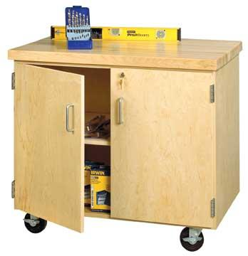 emdc-2436m-mobile-storage-cabinet-locking-door-style-  sc 1 st  Worthington Direct & Shain Mobile Storage Cabinet ( Locking Door Style W/ Maple Top ...