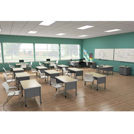 Modern Classroom Seating ~ Ofm double pedestal mesa teacher desk quot