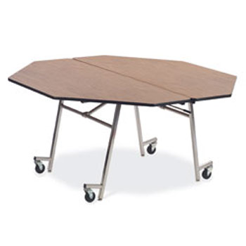 Beautiful Mt60oct Mobile Folding Shape Cafeteria Table  60 Octagon