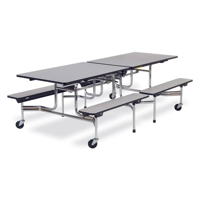 Virco Mobile Bench Cafeteria Table L X H Bench Height - 17 inch high coffee table