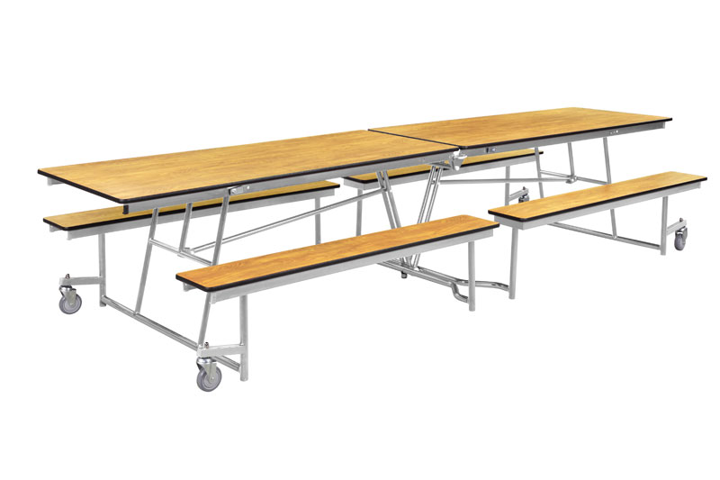 Mtfb10 Pwpecr Mobile Bench Cafeteria Table Plywood Top