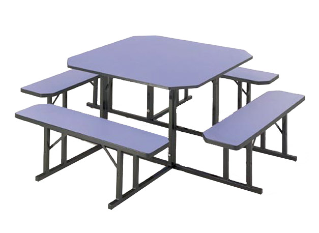 Nbs 48 Square Cafeteria Bench Table 48 Sq