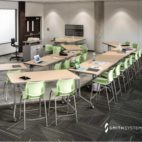 NXL Nest and Fold Training Table by Smith System