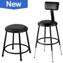 Click to see Black Padded Lab Stools from NPS