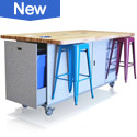 The Ed Table with Magnetic Metal Stools, pull-out Trash & more!