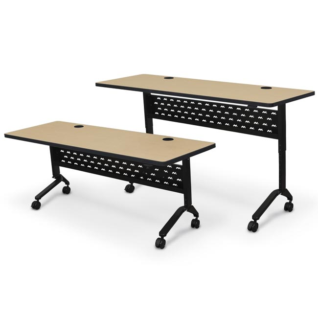 All Adjustable Height Nido Flip Top Conference Training Tables By - Adjustable training table