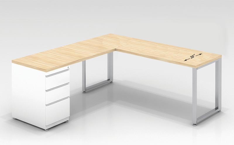 "Ofd Office Furniture 30"" D L- Shaped Desk (60"" W X 72"" L ..."