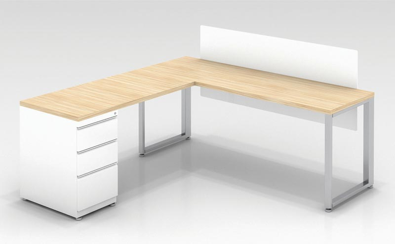 Ofd Cityp7 L Desk W Privacy Screen 72
