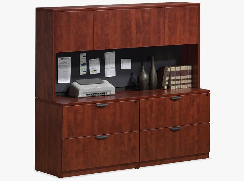 Office Credenza with Storage Hutch