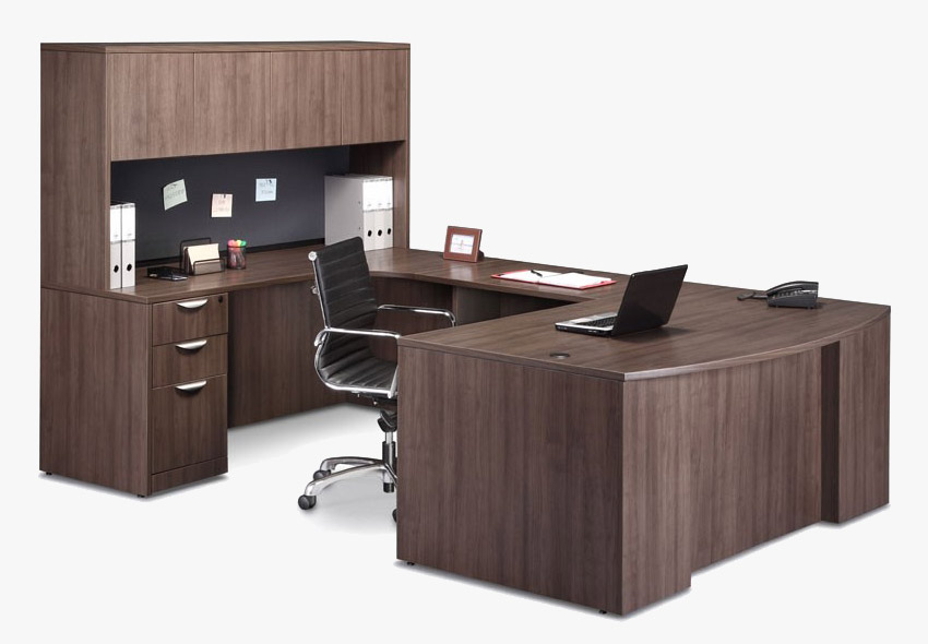 Office Desk Suite with Hutch and Storage