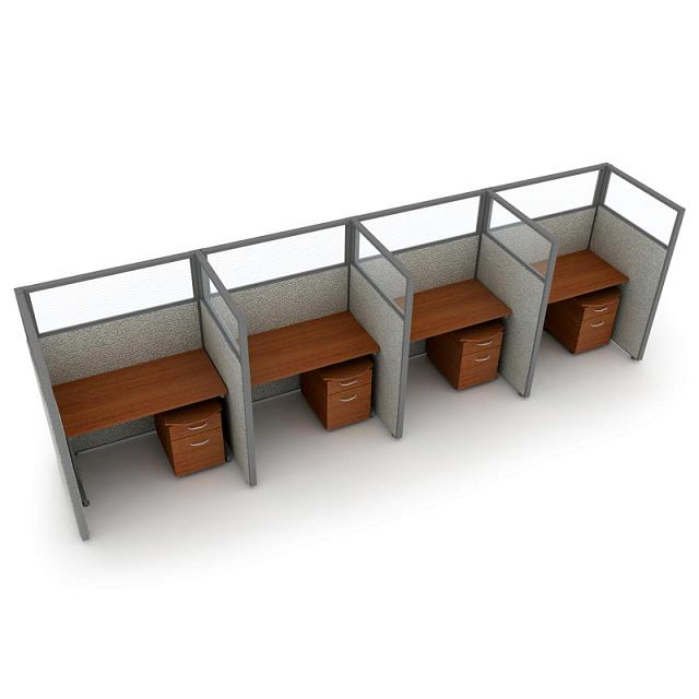 t1x46348p-rize-series-privacy-station-1x4-configuration-w-translucent-top-63-h-panel-4-w-desk