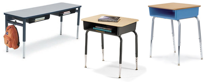 Types of Open Front School Desks