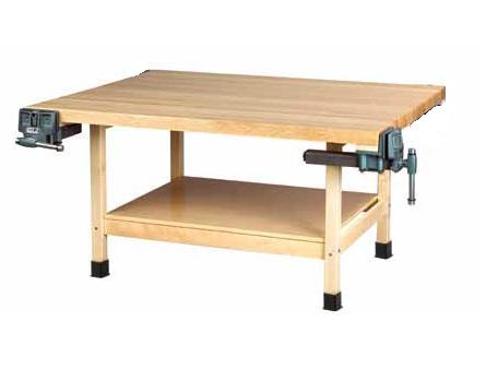 ww2-2v-wooden-two-station-student-workbench-w-2-vises