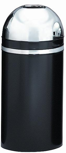 415dt-22-monarch-series-open-top-receptacle-black-w-chrome-accents