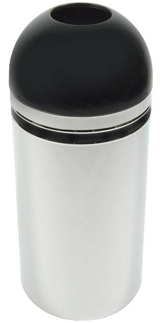 415dt-44-monarch-series-open-top-receptacle-chrome-w-black-accents