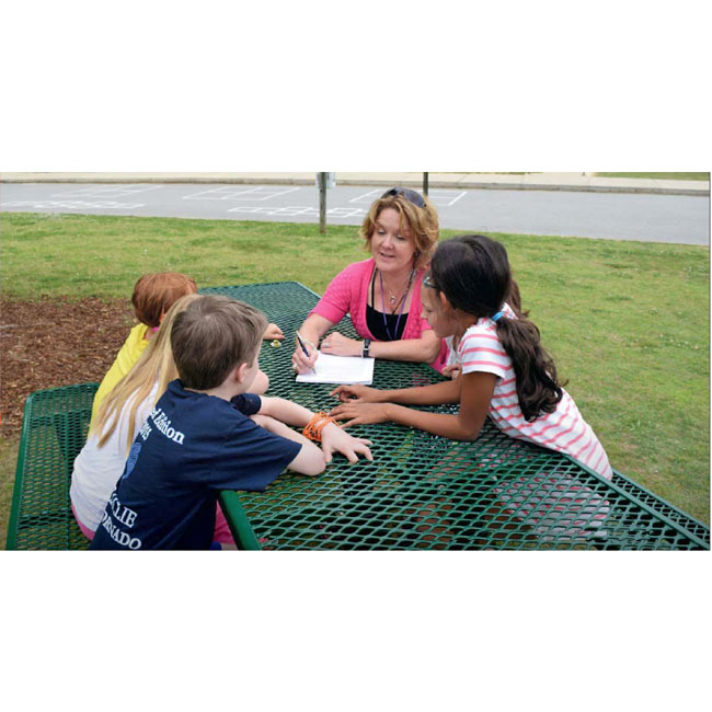 Ultraplay 8 Rectangular Expanded Metal Outdoor Picnic