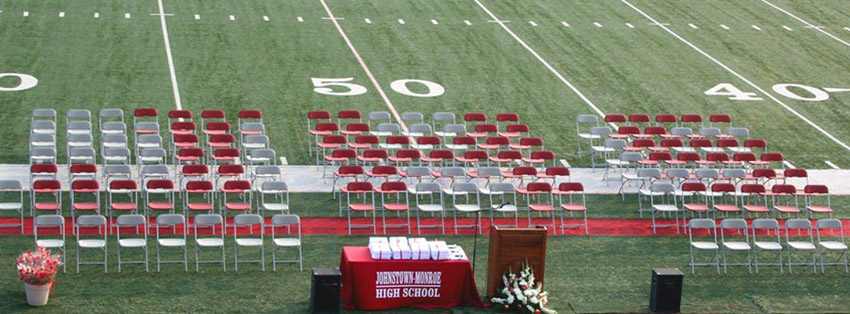 Outdoor Folding Chairs for outdoor graduation event