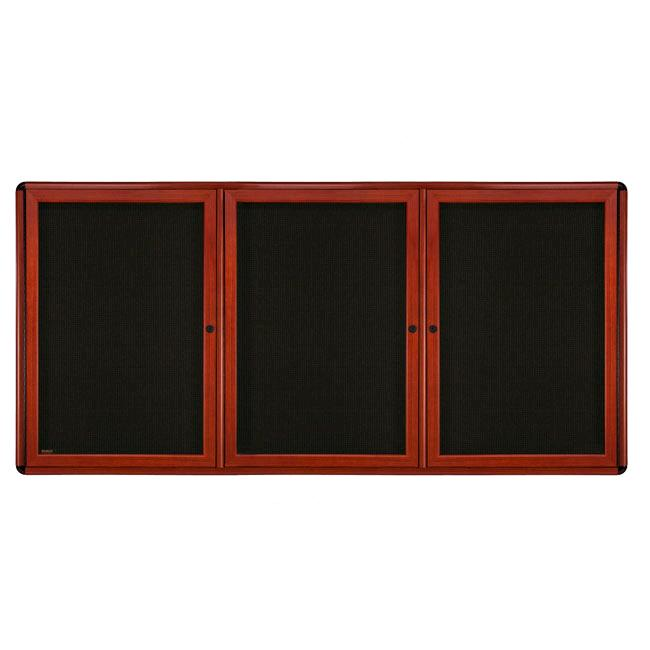 ovmcb4-f90-ovation-wood-look-enclosed-bulletin-board-3-door-36-x-60