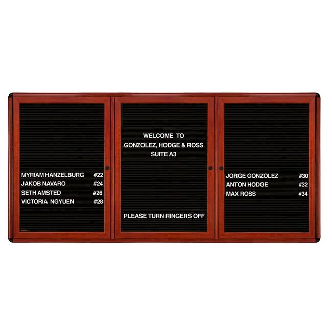ovmcb5-bbg-ovation-wood-look-enclosed-letter-board-3-door-48-x-72